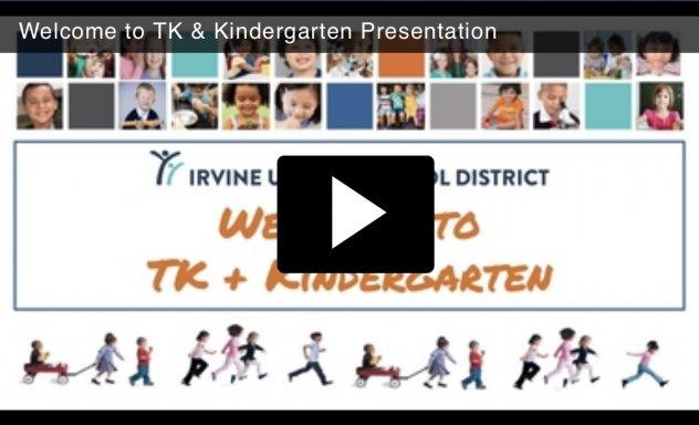 Kindergarten and TK video