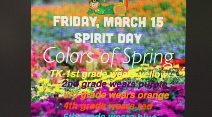 Spirit Day - Colors of Spring